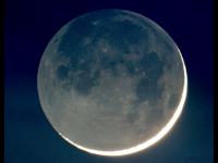 New Moon in Earthshine (Galileoscope)